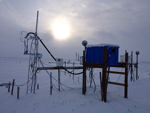 fast greenhouse gas analyzer in action in Barrow, Alaska