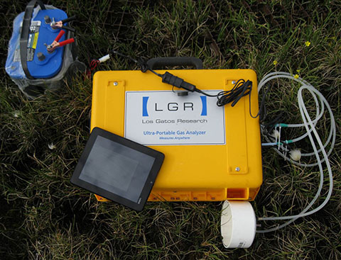 greenhouse gas analyzer provides continuous measurements above the Arctic Circle